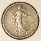 KM#844 1918 Silver French Franc F #046