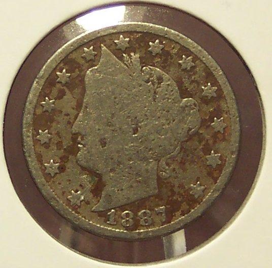 "1887 Liberty ""V"" Nickel G4 #087"