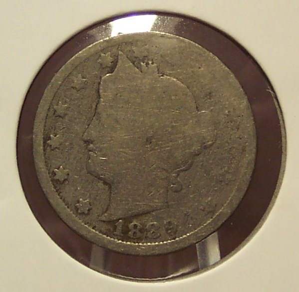 "1889 Liberty ""V"" Nickel AG  #0088"