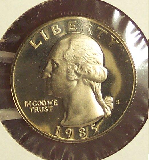 1985-S DCAM Proof Washington Quarter PF65 #319