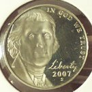 2007-S Deep Cameo Proof Jefferson Nickel #0579