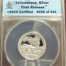 2010-S Silver Proof Yellowstone Quarter ANACS PR70 DCAM