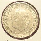 KM #786 1957 Spain Five Pesetas AU #878
