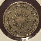 KM# 19 1901 Uruguay 1 Centesimo Coin EF #928