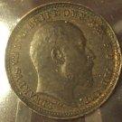 KM# 791 1902 British 1/3 Farthing Coin RARE #948