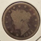 "1893 Liberty ""V"" Nickel AG #989"