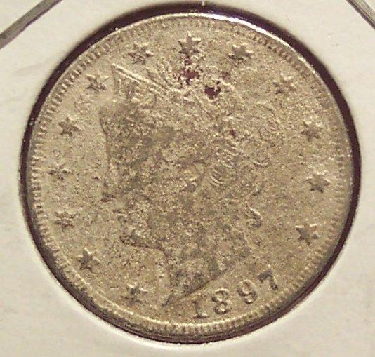 "1897 Liberty ""V"" Nickel P #1000"