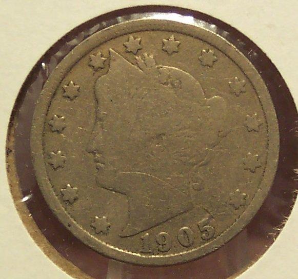 "1905 Liberty ""V"" Nickel G4 #1001"