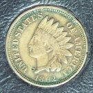 1862 Indian Head Penny EF 3 Diamonds #023