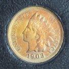 1903 Indian Head Penny GEM BU #458
