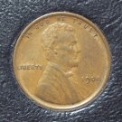 1909 Lincoln Wheat Penny EF #007