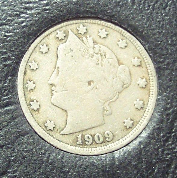 "1909 Liberty ""V"" Nickel VG #731"