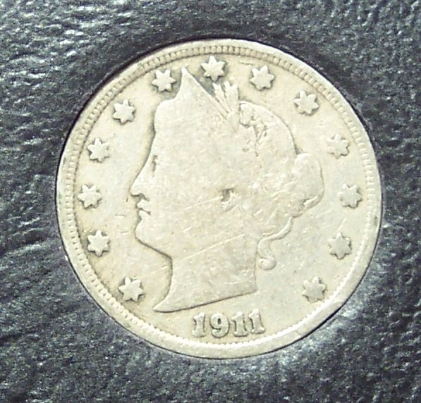 "1911 Liberty ""V"" Nickel VG #746"