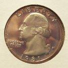 1981-S Clad Proof Washington Quarter Typ1 #355