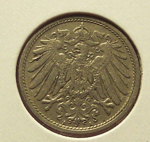 KM #12 Imperial Germany 1912-A 10 Pfennig Coin #01114