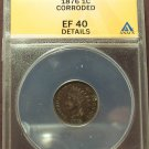 1876 Indian Head Cent ANACS EF40 Details #M036