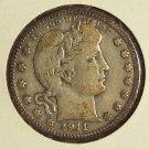 1911-D Barber Quarter VG #010