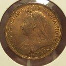 1901 English Half Penny BU KM#789 #913