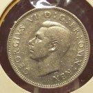 1940 English Silver Shilling EF KM#854 #934