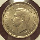 KM #852 Great Britain 1943 Silver 6 pence AU #0942