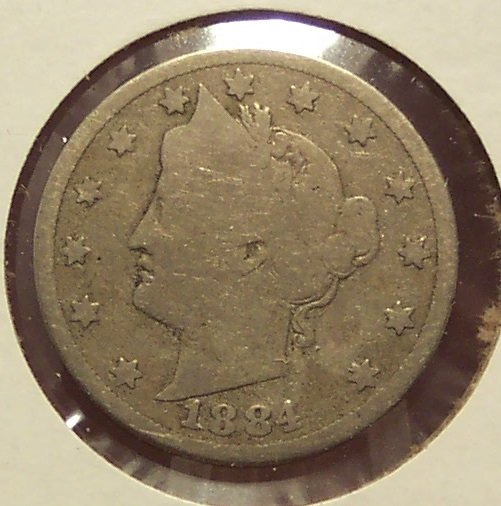 "1884 Liberty ""V"" Nickel G4 #1013"