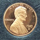 1987-S Proof Lincoln Memorial Penny #01134