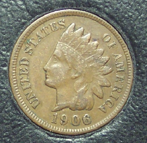 1906 Indian Head Cent VF #01166
