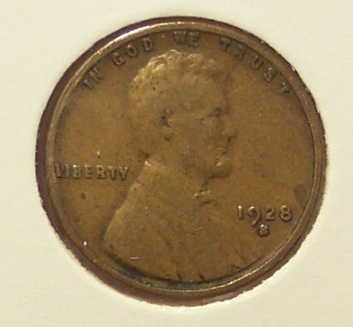 1928-S Lincoln Wheat Back Penny VG #1182