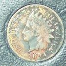 1894 Indian Head Cent EF Details #1026