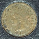 1864-L Pointed Bust Indian Head Cent Semi-Key VG Details #004