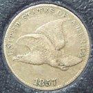 1857 Flying Eagle Cent VF20 #013