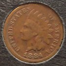1884 Indian Head Cent G4 #063