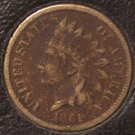 1861 Indian Head Cent Full Liberty #0112