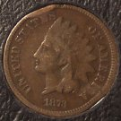 "1873 Indian Head Cent Open ""3"" Scarce Date #193"