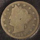1889 Liberty Head Nickel SCARCE DATE AG #464