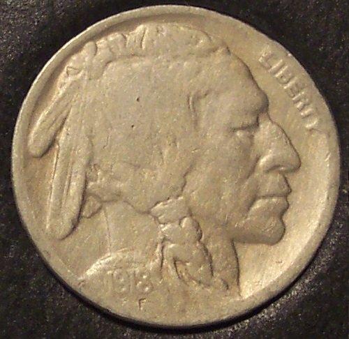 1918 Buffalo Nickel F15+ FULL DATE #568