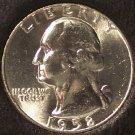 1958 Silver Washington Quarter GEM BU #656
