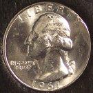 1961 Silver Washington Quarter BU #710