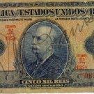 Brazil 1942 5 Cruzerios on 5 Mil Reis BR-125
