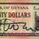 Guyana 20 Dollars 1989 GY-24d
