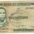 Jamaica $2 Note 1993 JM-69