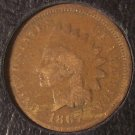 1867 Indian Head Cent G4 #053