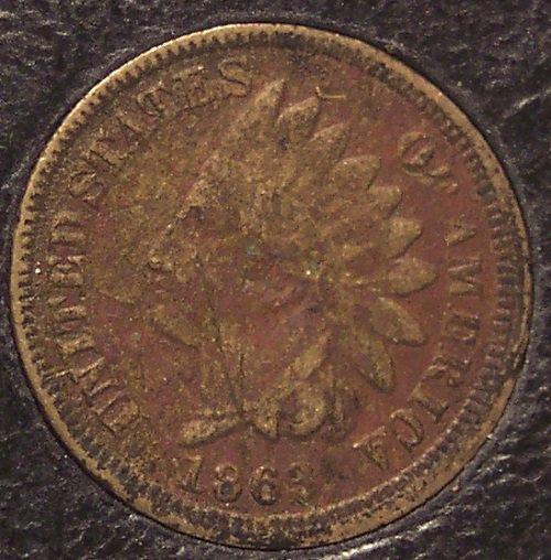 1863 Indian Head CN Cent VG Details (scratches, grainy) #064