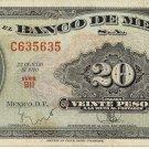 Mexico 20 Pesos 1970 MX-54o