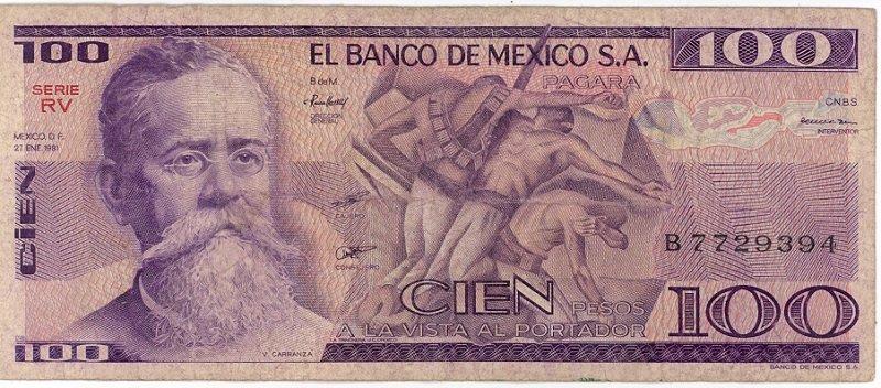 Mexico 100 Pesos 1981 MX-74