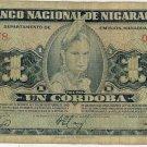 Nicaragua 1 Cordoba 1960 NI-99