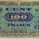 Allied Military Currency 1944 Supplemental French Franc Currency 100 Franc FR-118