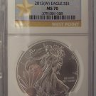 2013 W Eagle NGC MS 70 Star Label Struck at West Point Mint #G15