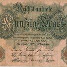 German Empire 1910 50 Marks DER-41