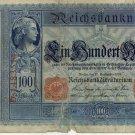 German Empire 1909 100 Marks DER-38